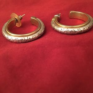 Brighton traditional hoop earring silver/gold trim